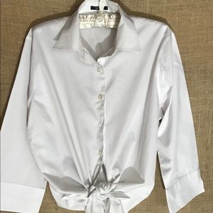 Lands' End Tops - Land's' End White Blouse - 10